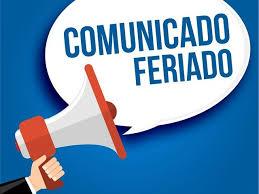 FERIADOS NOS DIAS 20 E 22 DE NOVEMBRO/2019